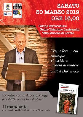 SABATO 30 MARZO ORE 16.00 ALBERTO MAGGI