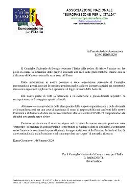 COMUNICATO EUROPASSIONE